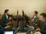 Asistentes al taller programando en BASIC