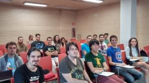 Asistentes al Taller de Programación de Videojuegos en BASIC en Elche Juega 2014