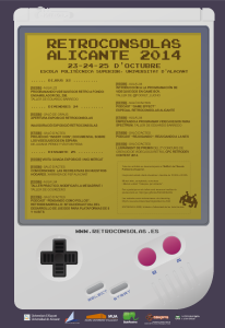 Cartel Retroconsolas Alicante 2014
